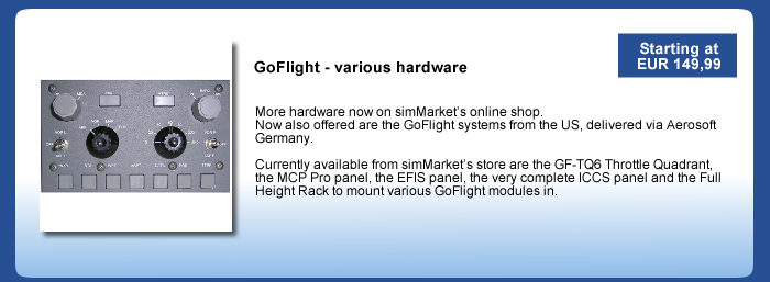 GoFlight Hardware now also on simMarket