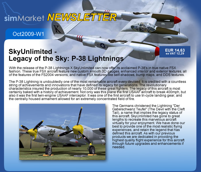 SkyUnlimted - Legacy of the Sky: P-38 Lightnings
