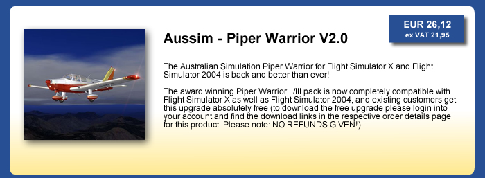 Aussim - Piper Warrior V2.0 for FSX and FS2004